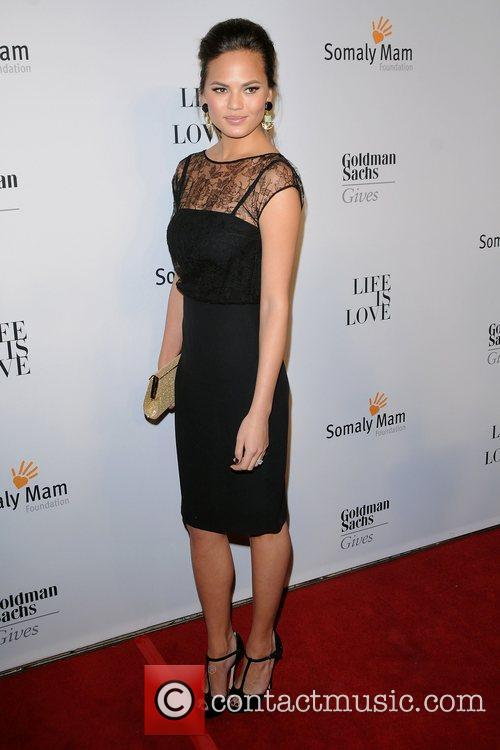 Chrissy Teigen at the 2012 Somaly Mam Foundation...