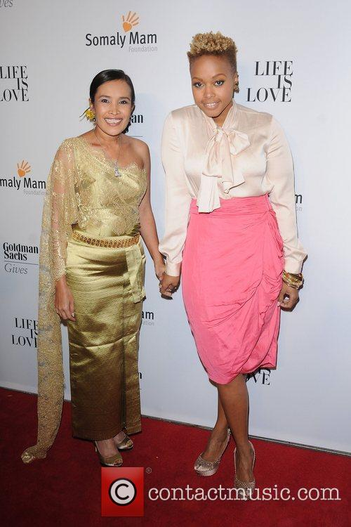 Somaly Mam and  Chrisette Michele at the...