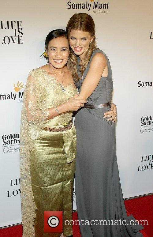 Somaly Mam and Annalynne McCord attends the Somaly...