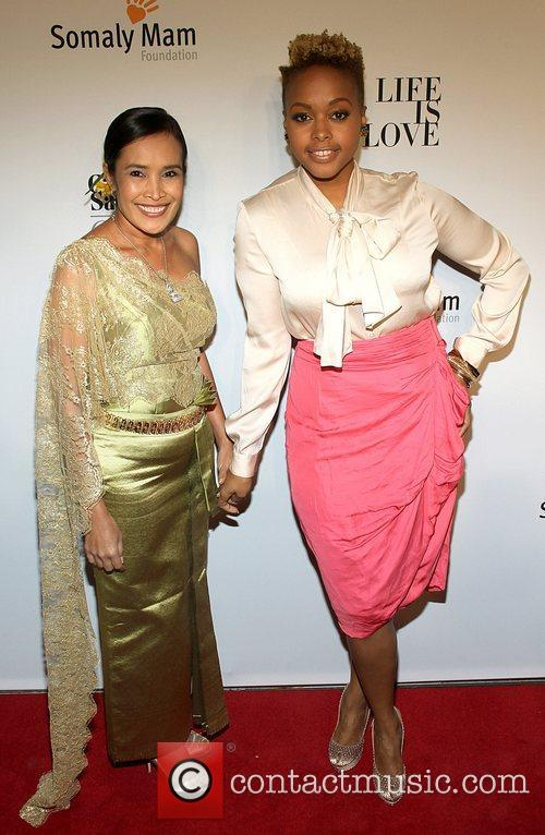 Somaly Mam and Chrisette Michele attends the Somaly...