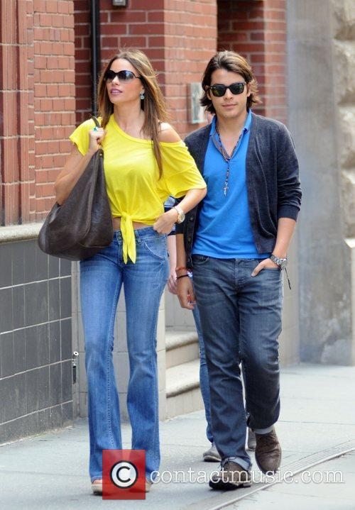 Sophia Vergara and her son Manolo Gonzalez out...