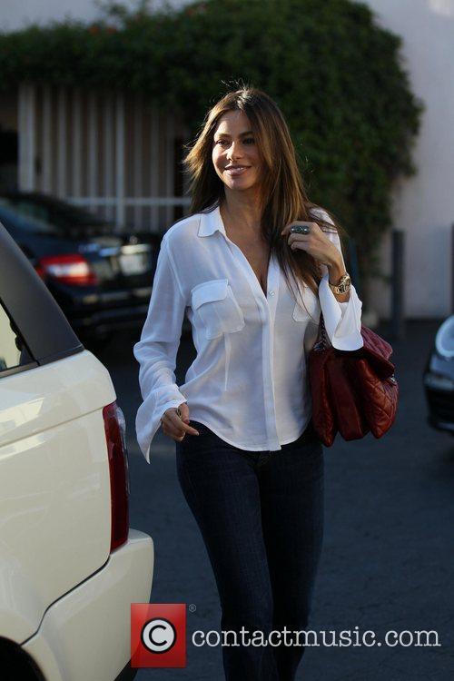 Sophia Vergara is seen outside Il Pastaio restaurant...