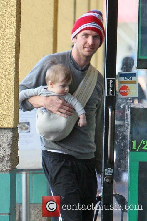 Gets some lunch with his son Ever Imre...