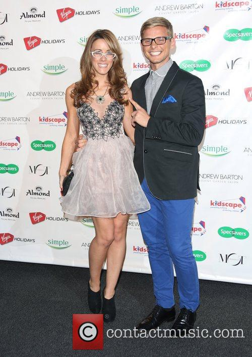 Jeff Brazier and girlfriend Nicola T Specsavers Spectacle...