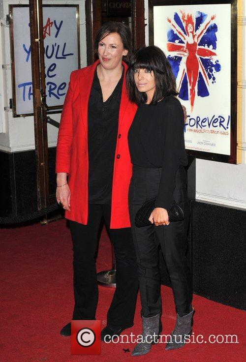 Miranda Hart, and Claudia Winkleman Viva Forever VIP...
