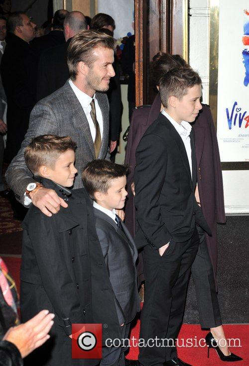 David Beckham, Brooklyn, Romeo and Cruz 7