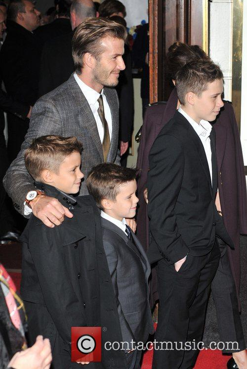 David Beckham, Brooklyn, Romeo and Cruz 8