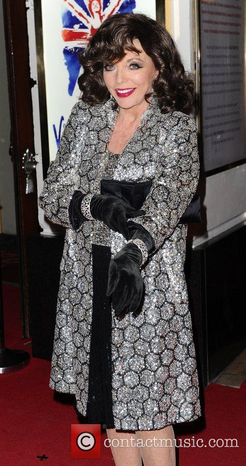 Joan Collins at the press night of