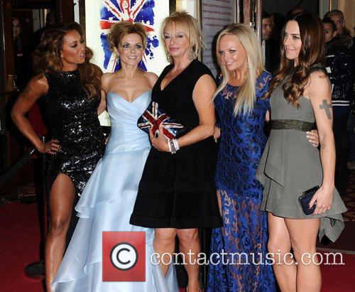 Mel B, Geri Halliwell, Judy Craymer, Emma Bunton, Mel C, Viva Forever, Piccadilly Theatre, London and England 2