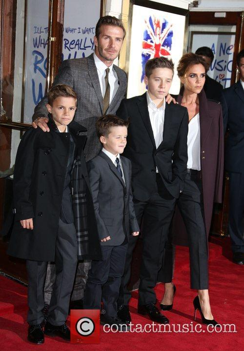 David Beckham with his family
