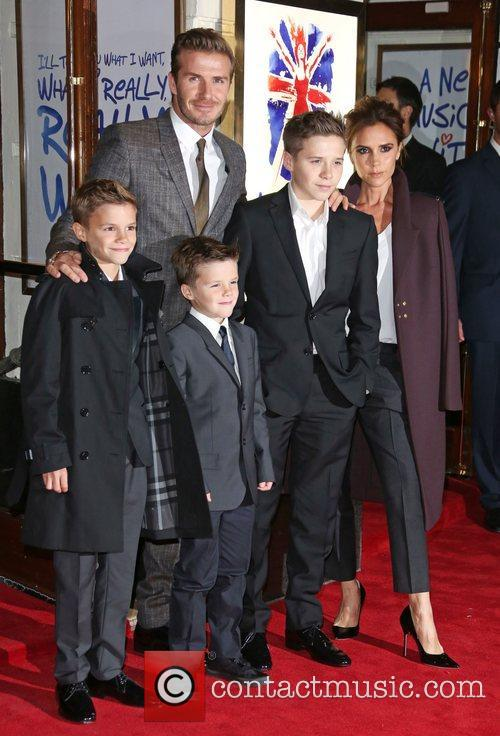 David Beckham, Victoria Beckham, Romeo Beckham, Cruz Beckham and Brooklyn Beckham 3