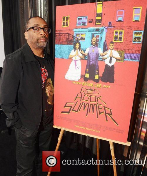 Spike Lee attends a press junket for 'Red...