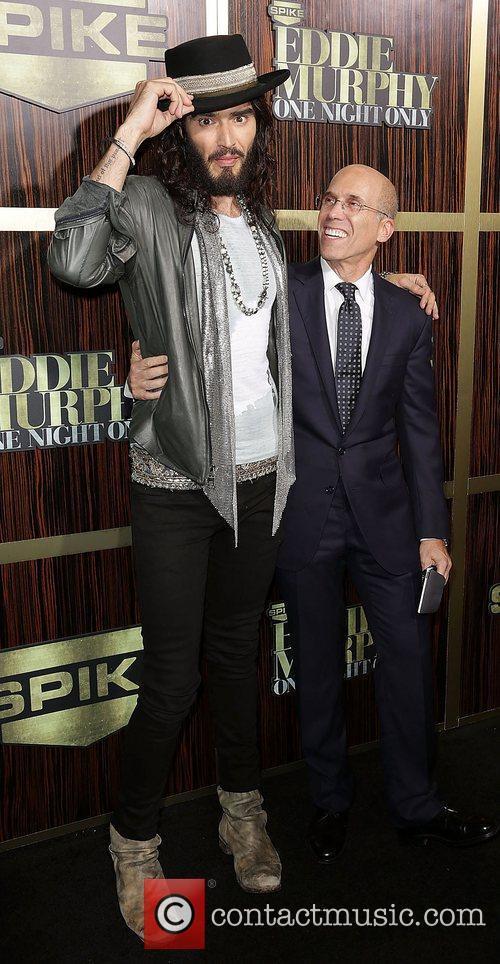 Russell Brand and Jeffrey Katzenberg Spike TV's 'Eddie...