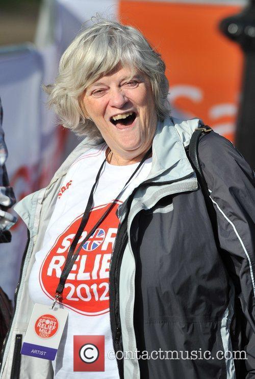 Anne Widdecombe Sainsbury's Sport Relief Mile 2012 -...