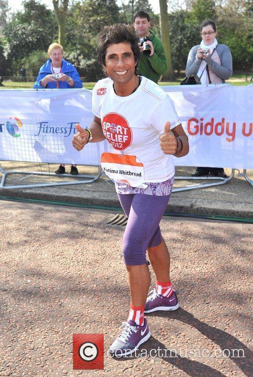Fatima Whitbread Sainsbury's Sport Relief Mile 2012 -...