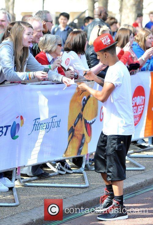 Oritse Williams Sainsbury's Sport Relief Mile 2012 -...