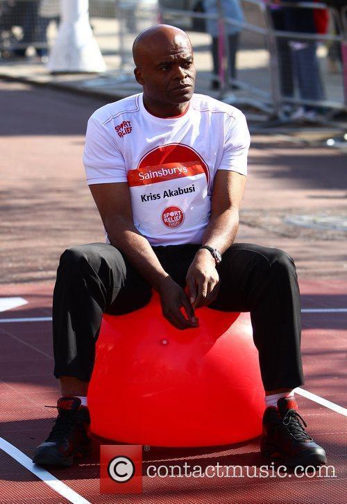 Kris Akabusi Sainsbury's Sport Relief Mile 2012 -...