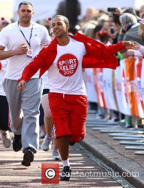 Marvin Humes of JLS Sainsbury's Sport Relief Mile...