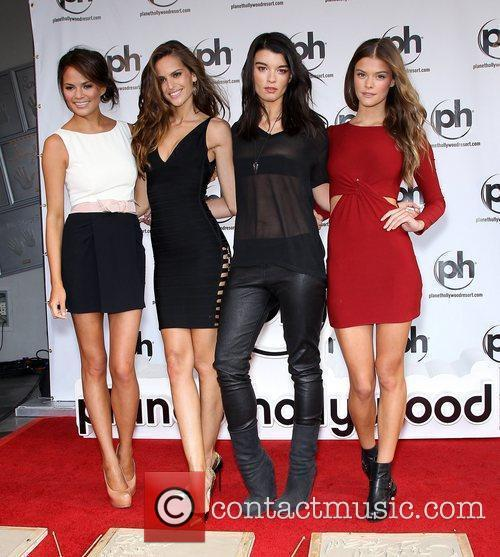 The SI Swimsuit Models Handprint Ceremony at Planet...