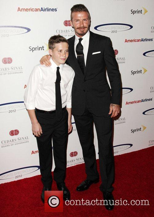 David Beckham and Brooklyn 5