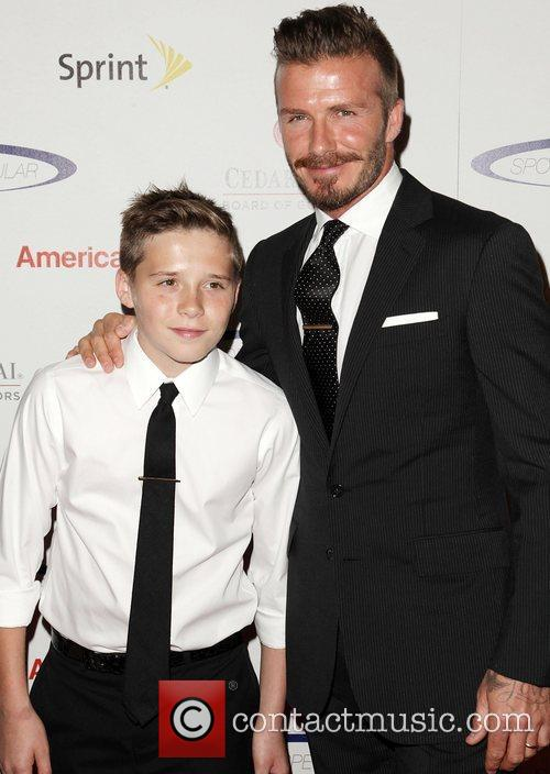 David Beckham and Brooklyn 6