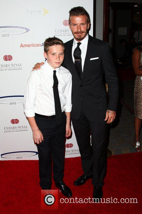 David Beckham and Brooklyn 10
