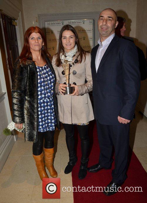 Katie Taylor with parents Bridget Taylor and Pete...