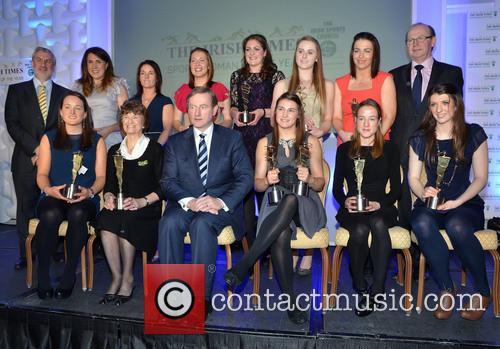 Annalise Murphy, Katie Walsh, Ursula Jacob, Maeve Kyle, Enda Kenny, Katie Taylor and Fionnuala Britton 2