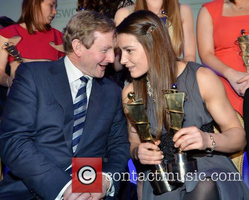 Katie Taylor and Enda Kenny 1