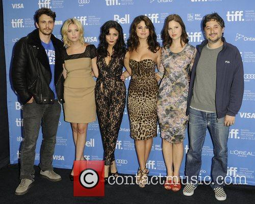 James Franco, Ashley Benson, Harmony Korine, Rachel Korine, Selena Gomez and Vanessa Hudgens