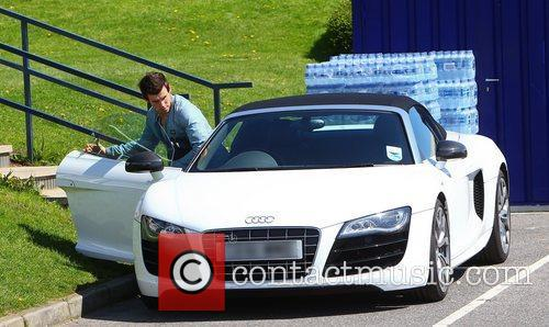 Gareth Bale and his Audi R8 Tottenham Hotspur...