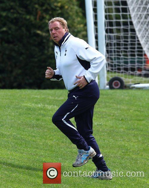 Harry Redknapp Tottenham Hotspur players and management at...