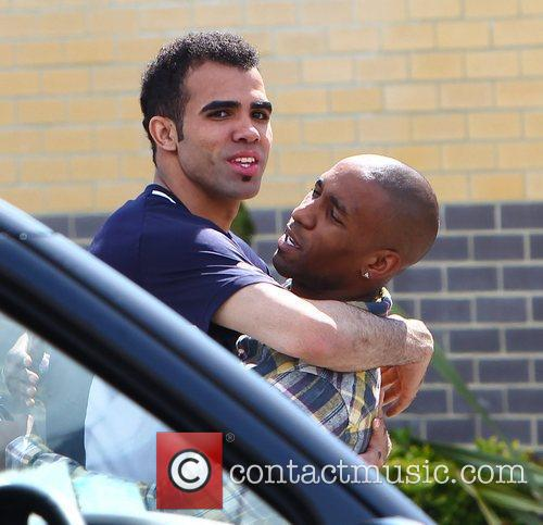 Jermain Defoe with Sandro Tottenham Hotspur players and...