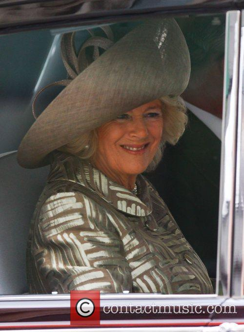 Camilla, Duchess of Cornwall  arriving at the...