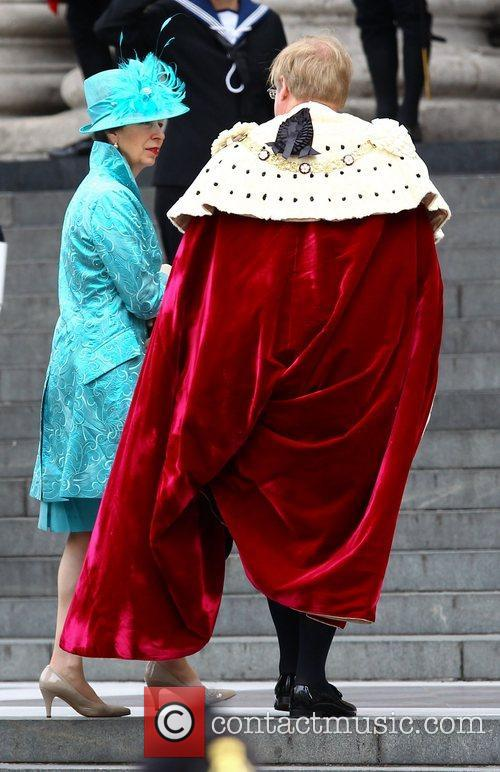 Princess Anne arriving at the Queen's Diamond Jubilee...