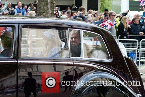 Prince Andrew on route to the Queen's Diamond...