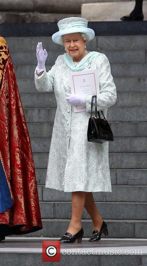 Queen Elizabeth II  leaving the Queen's Diamond...