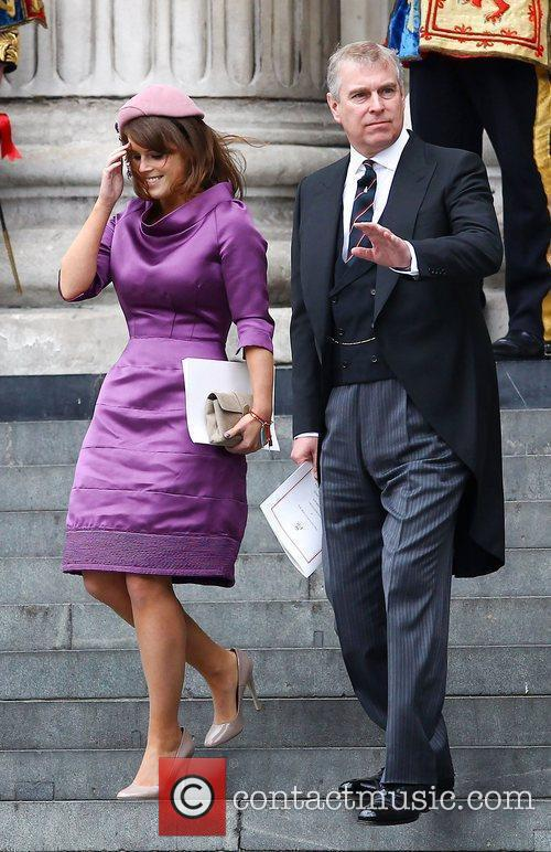 Princess Eugenie and Prince Andrew, The Duke of...