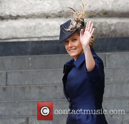 Sophie, Countess of Wessex  leaving the Queen's...