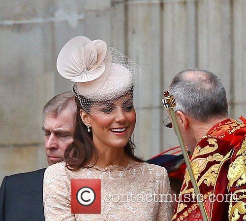 Catherine, Duchess of Cambridg leaving the Queen's Diamond...