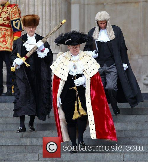 Lord Mayor of London David Wootton leaving the...