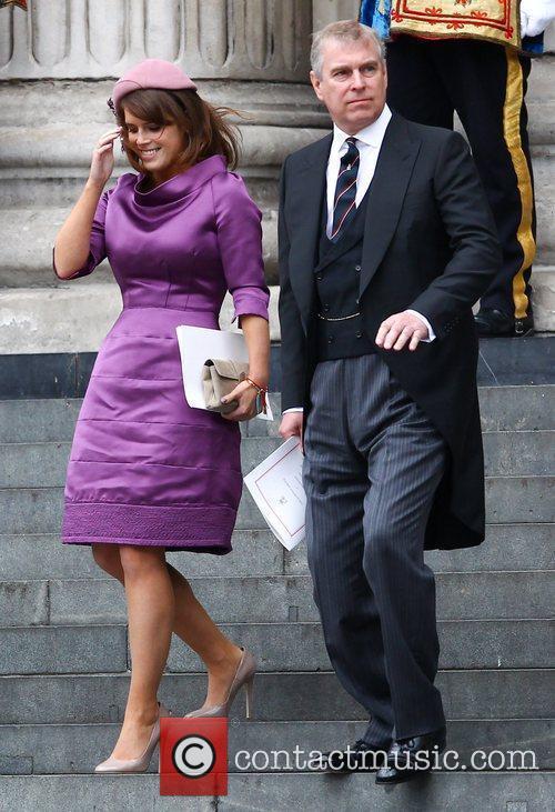 Princess Eugenie of York and Prince Andrew, Duke...