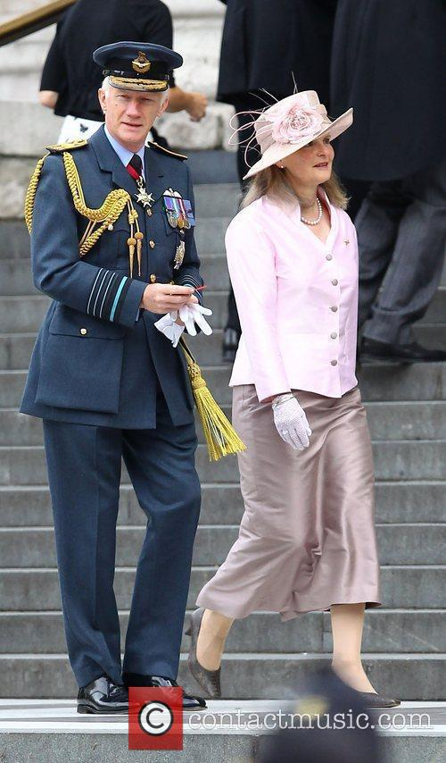 Air Chief Marshal Sir Stephen Dalton and wife...