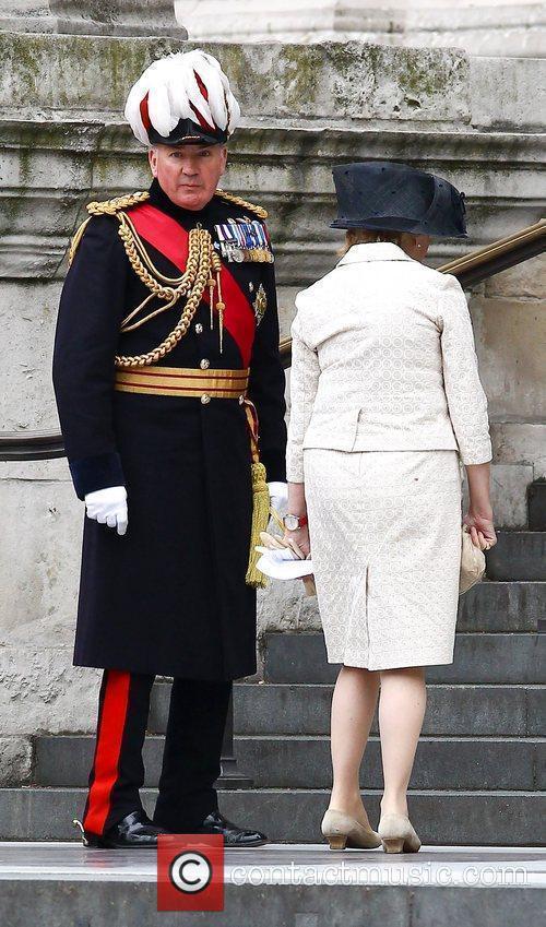 General Richard Dannatt and wife arriving at the...