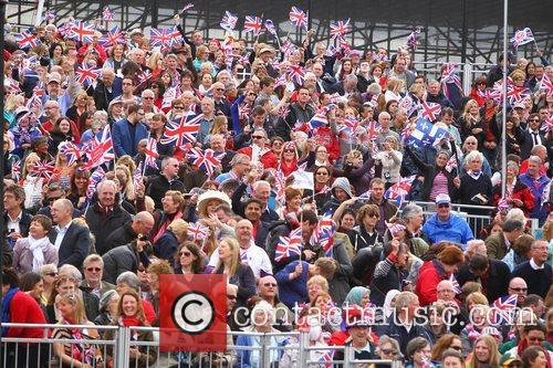 Atmosphere on route to the Queen's Diamond Jubilee...