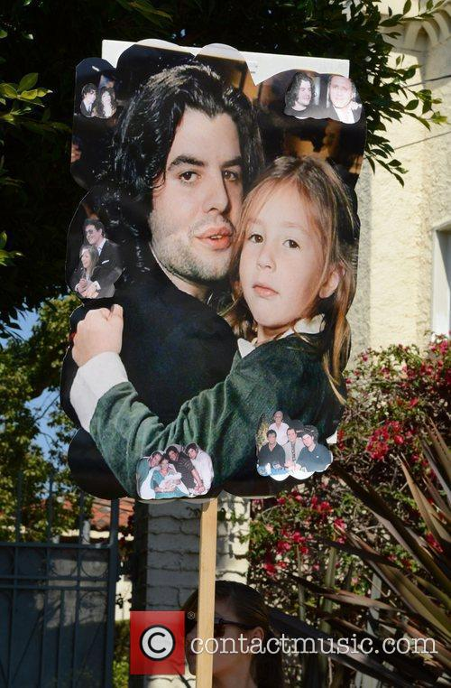 General views at the funeral of Sage Stallone...