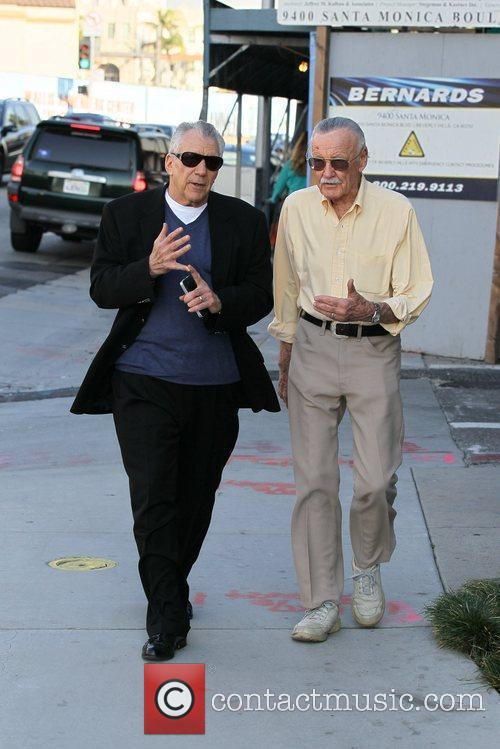 Stan Lee out and about with a friend...