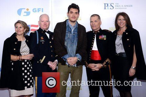 Patty Horan, Capt, Pat Horan, John Mayer, Lt. Col. Timothy Maxwell, Shannon Maxwell and Beacon Theatre 1