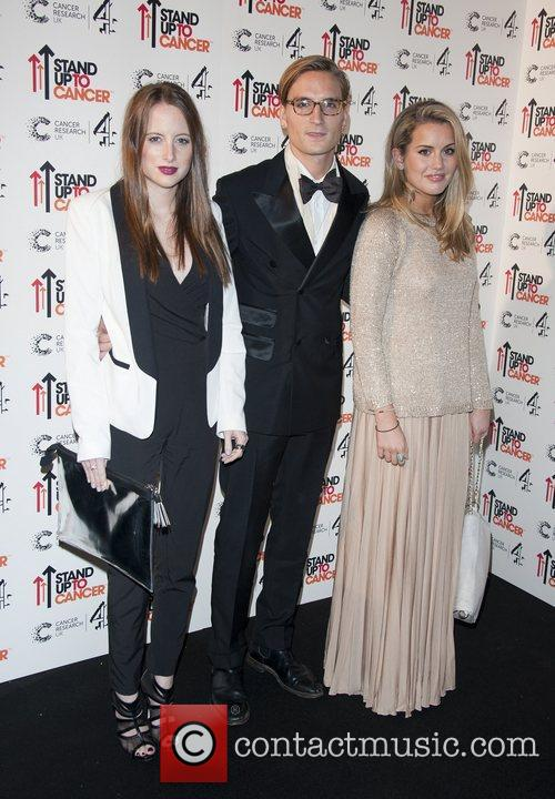 Rosie Fortescue, Oliver Proudlock and Caggie Dunlop Stand...
