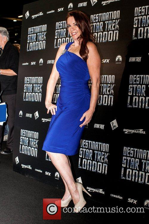 Chase Masterson Celebrities pose for photographers, without British...